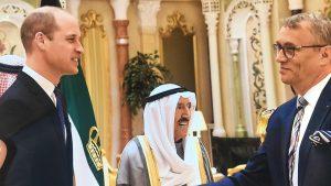 Jeho Královská Výsost, Princ William, vévoda z Cambridge a Jeho Výsost emír Státu Kuvajt, Sabah Al-Ahmad Al-Jaber Al- Sabah - Palác Bayan, Kuvajt